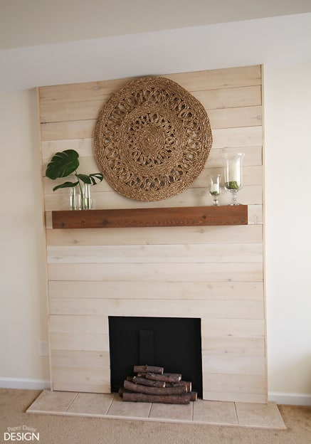 Faux Shiplap Fireplace With Real Heart Deeplysouthernhome