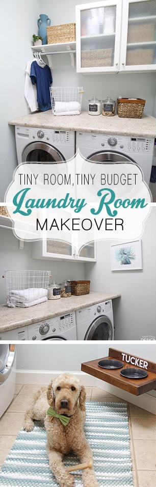 Small Laundry Room makeover on a budget