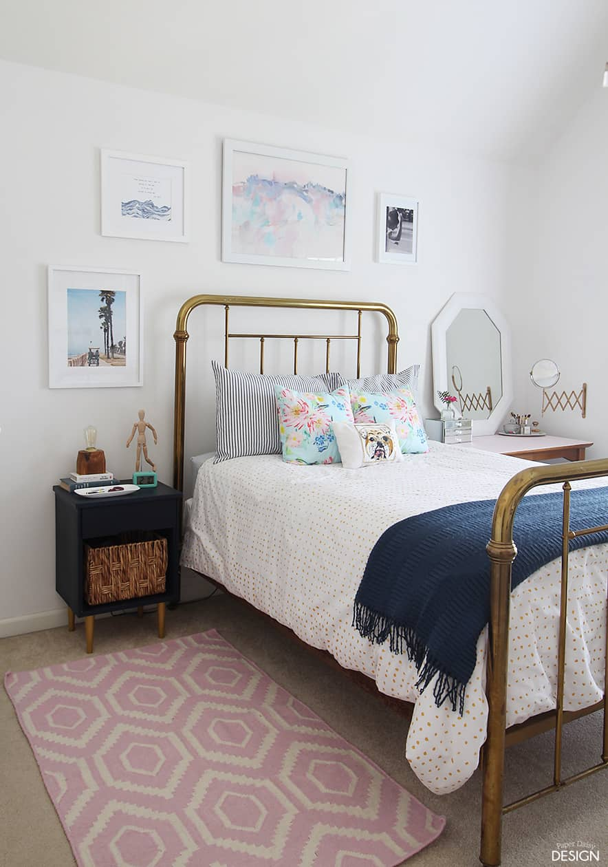Young modern vintage bedroom for Bedroom inspiration vintage