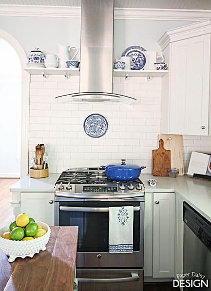 bluekitchenrangeshelves