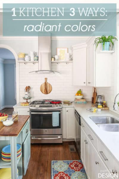 1 White Kitchen 3 Ways: Radiant Colors