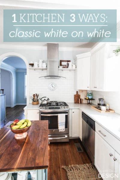 1 White Kitchen 3 Ways: Classic White on White