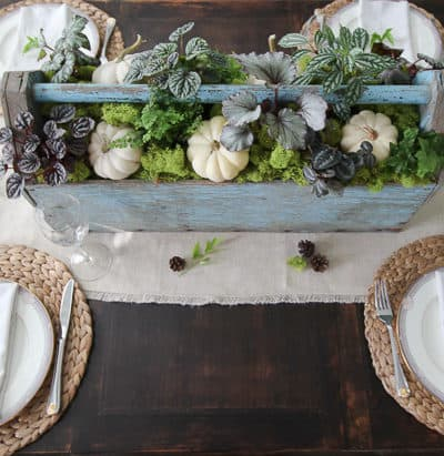 Fresh Fall Table Arrangement