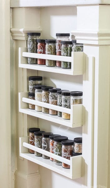 Easy Built-in Spice Rack {Bekvam Ikea Hack}