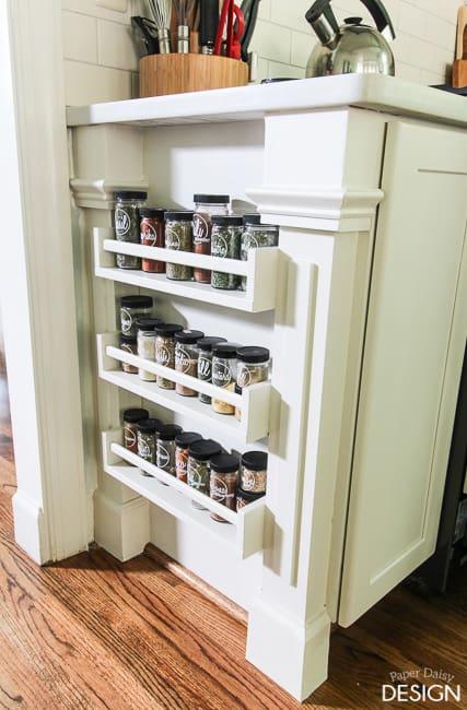 Easy Built-in Spice Rack {Bekvam Ikea Hack ...