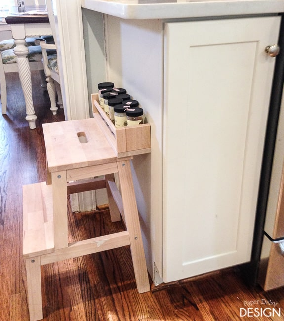 easy built in spice rack bekvam ikea hack