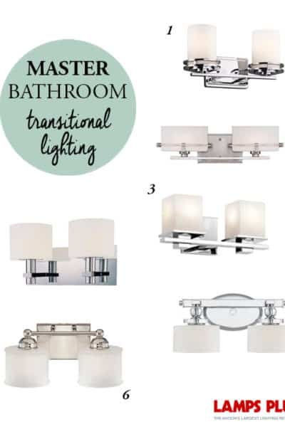 One Room Challenge: Week 3 Master Bathroom Lighting