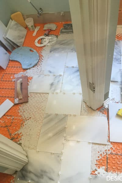 One Room Challenge: Tile is going down!