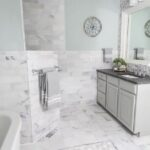First Look at the Marble Master Bathroom