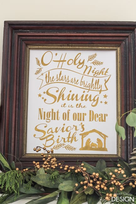 Free Cut File for the Hymn O Holy Night, printable file/PaperDaisyDesign.com