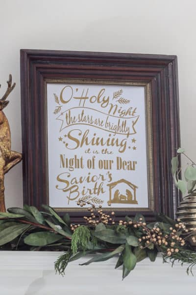 O' Holy Night Art: Free Cut File or Printable