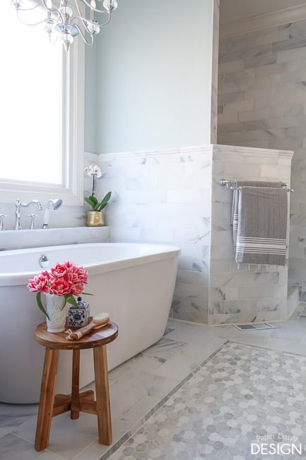 Marble Master Bathroom: The Details - DeeplySouthernHome