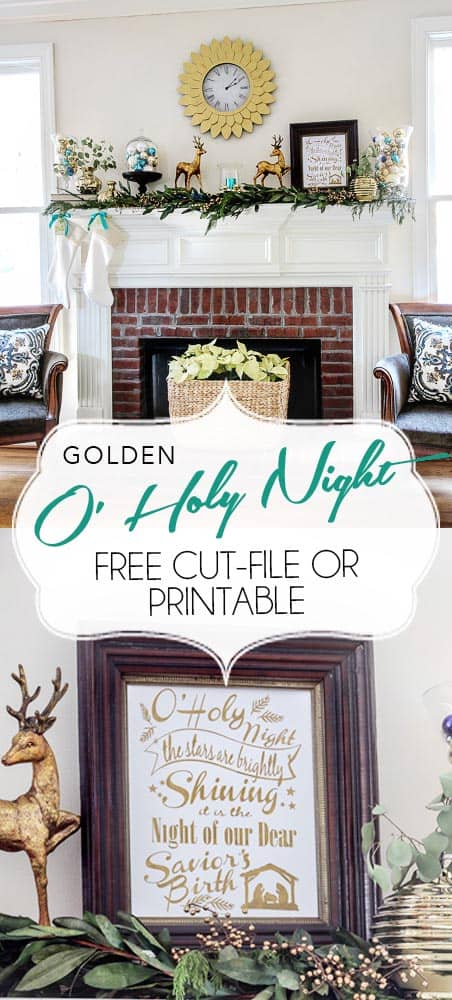 Free Cut File or Printable for the Hymn O Holy Night/PaperDaisyDesign.com