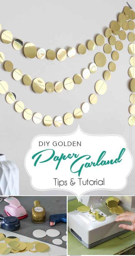paper garland DIY/paperdaisydesign.com