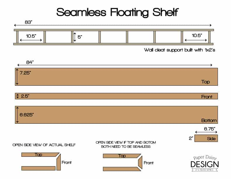 Seamless Floating Shelf