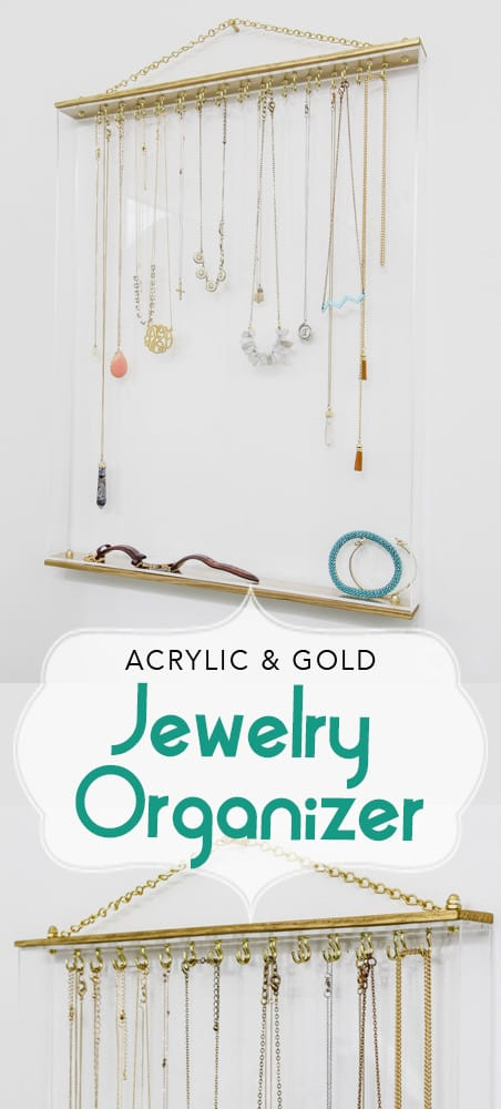 Acrylic & Gold Jewelry Organizer/mulitimage/paperdaisydesign.com