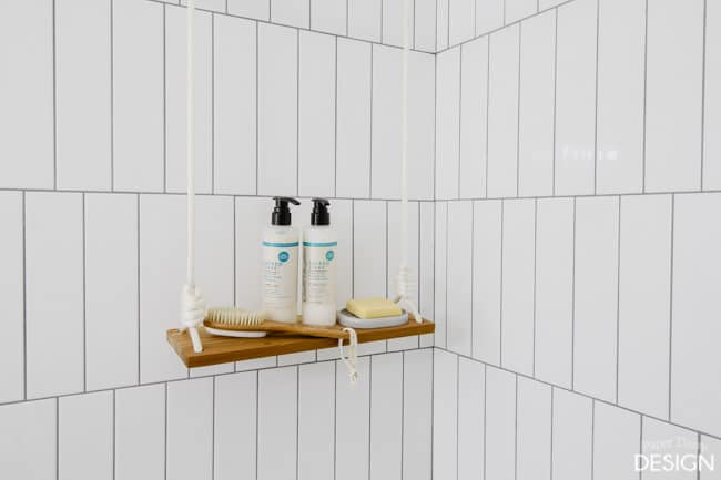 Swing Shelf in Shower