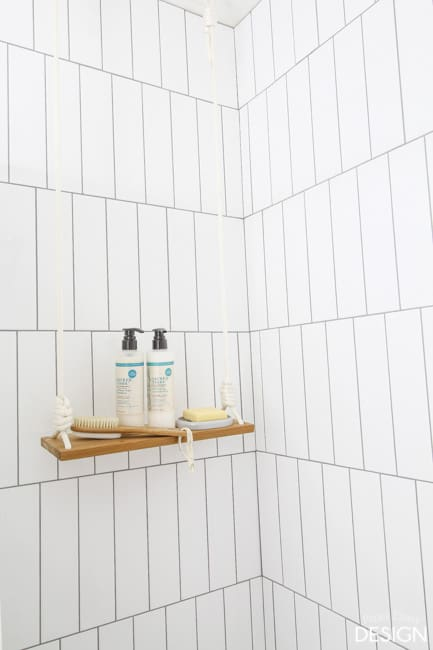Swing Shelf in Shower/paperdaisydesign.com