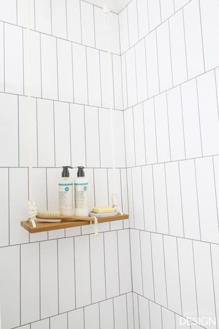 Swing Shelf in Shower/paperdaisydesign.com