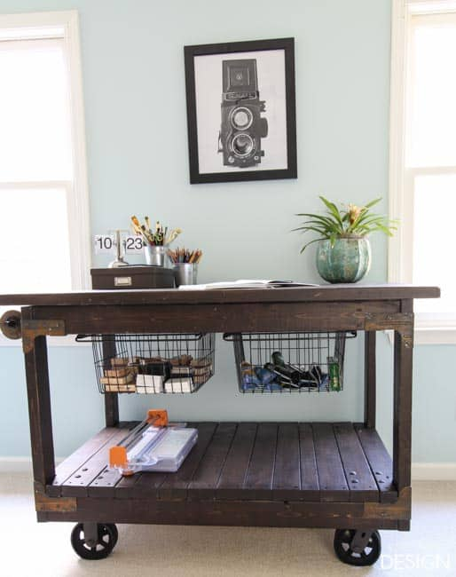 Craft Table DIY industrial