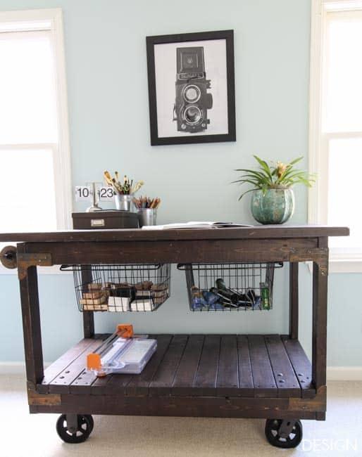 Craft Table DIY industrial