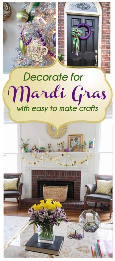 Mardi Gras Crafts/Paperdaisydesign.com