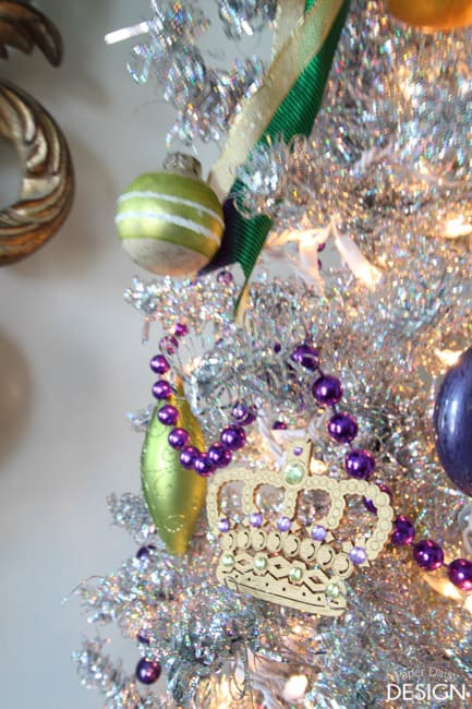 Mardi Gras Tree decorations/paperdaisydesign.com