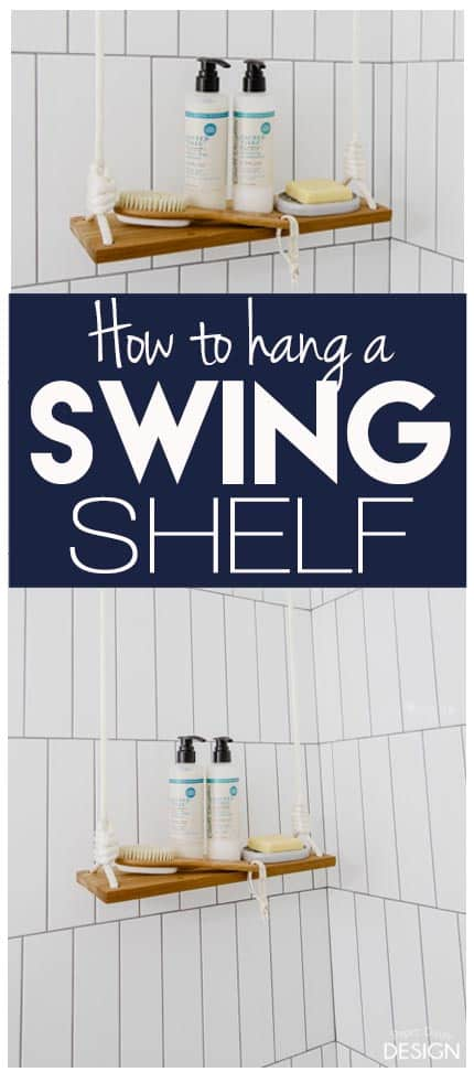 How to Hang A Swing Shelf/Paper Daisy Design.com