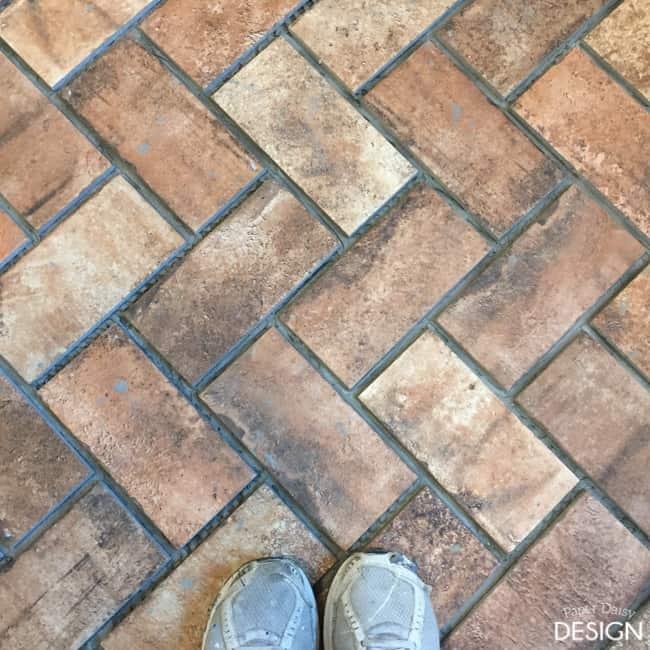 Brick tile/ Paper Daisy Design.com