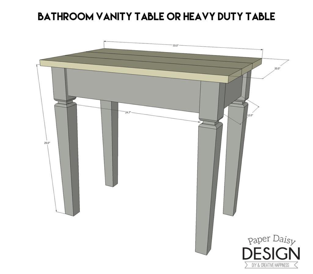 vanity-table-plans