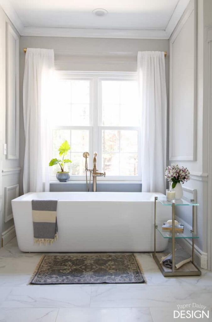 marble master bathroom soaker tub