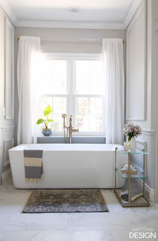 marble master bathroom soaker tub