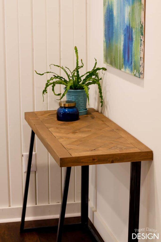 Take Two: Desk to Console Table