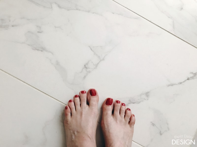 instead of the shock of a cold tile floor they would be greeted with the warmth and comfort of our electric floor warming system