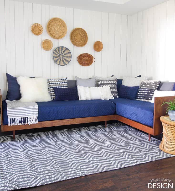 Plywood Mid-Century Daybed-DIY