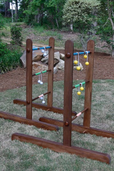 Portable DIY Wooden Ladder Golf