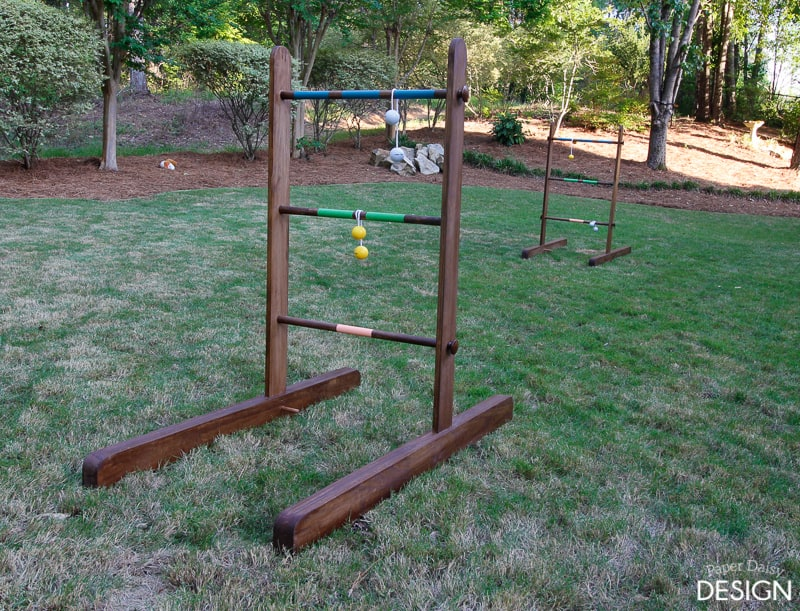 Portable diy wooden ladder golf deeplysouthernhome we played ladder golf with family and i knew it was the perfect game for our yard solutioingenieria Images