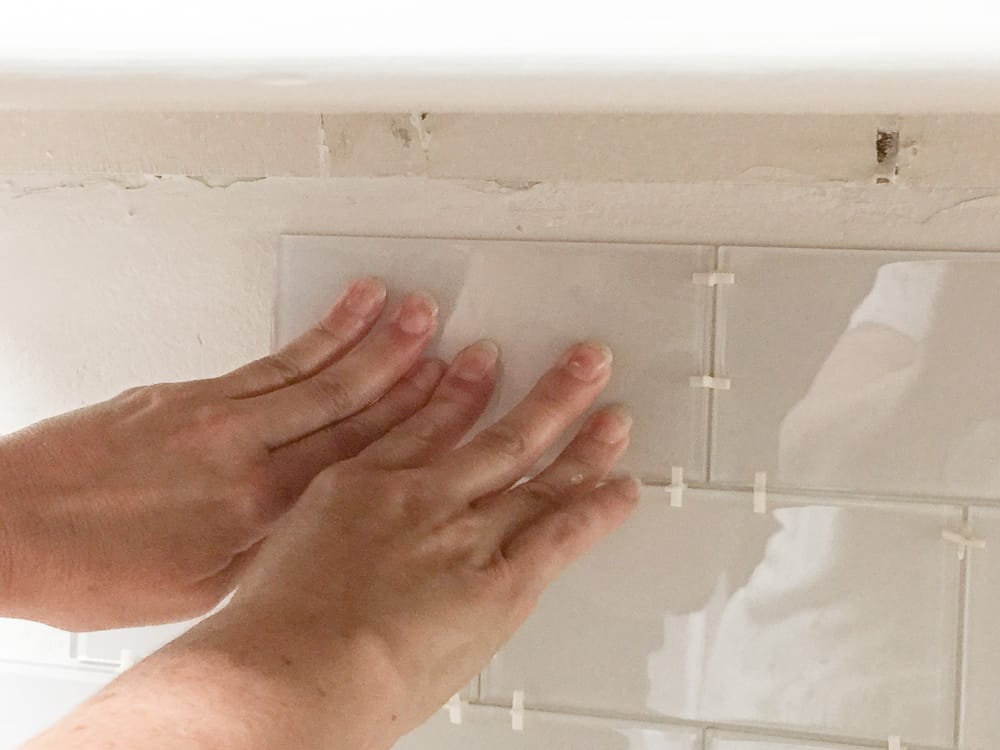 best way to add a peel and stick tile backsplash