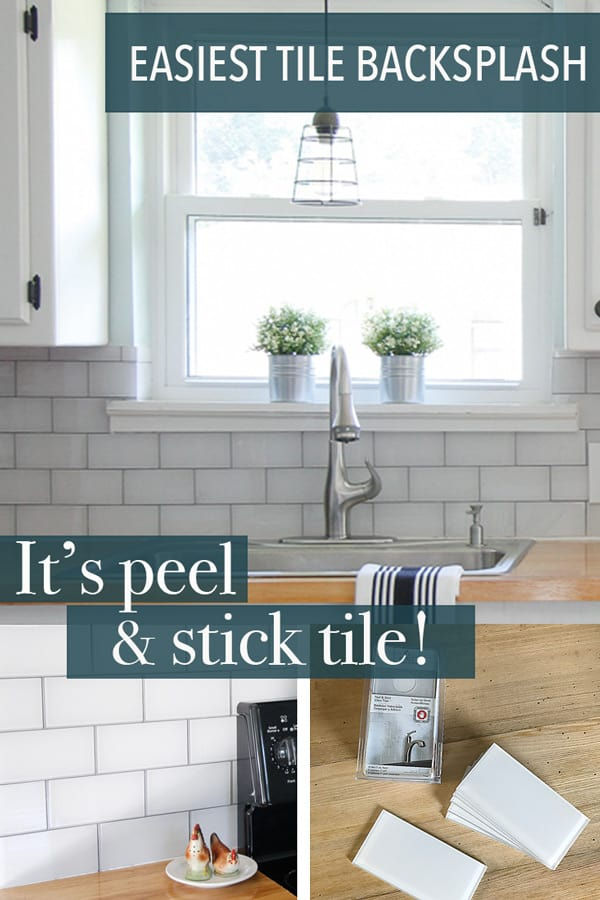 easy peel and stick backsplash tutorial