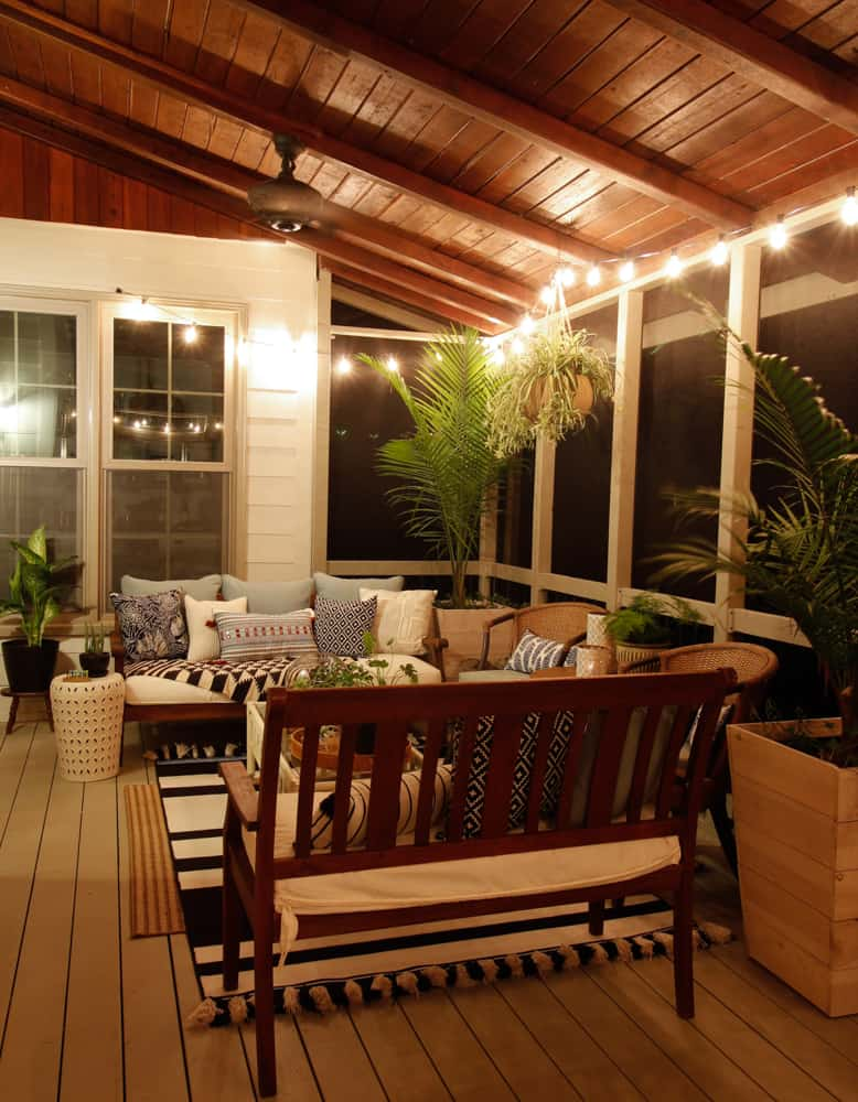 Screen Porch Outdoor Living Room Makeover