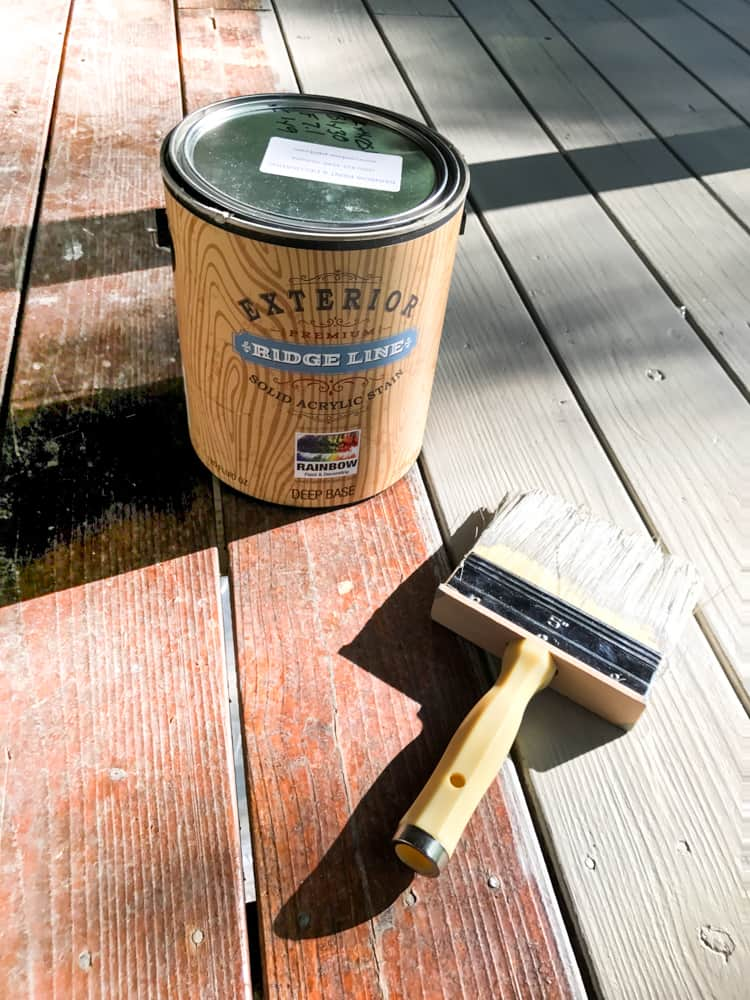how to stain a porch