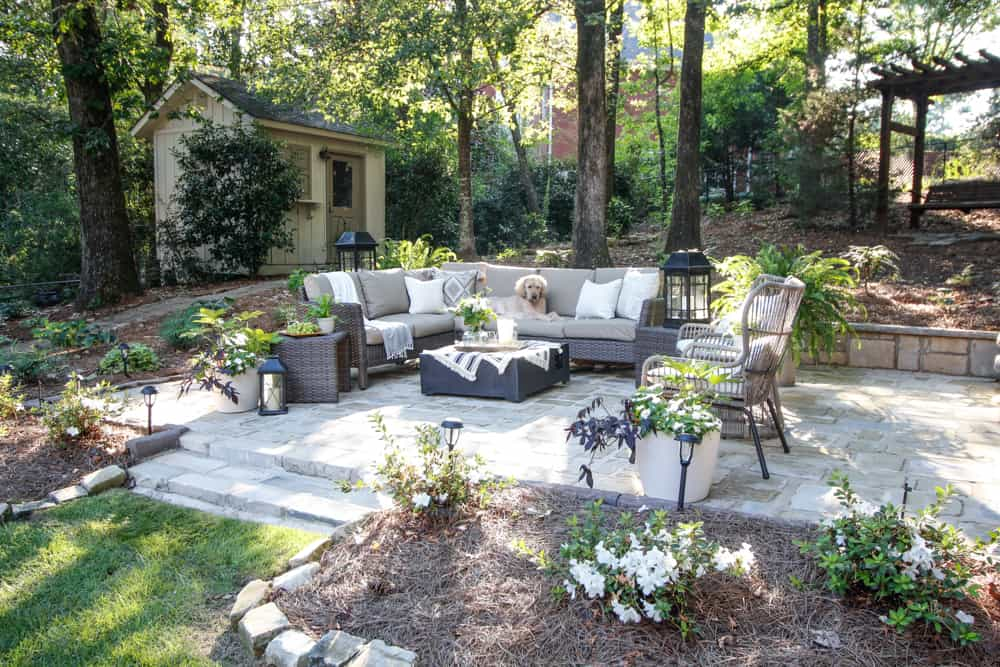 Recycled Stone Patio & Outdoor Oasis - DeeplySouthernHome
