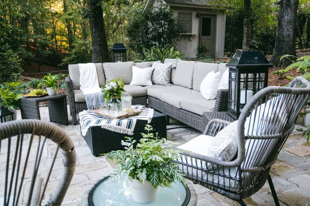 Recycled Stone Patio & Outdoor Oasis