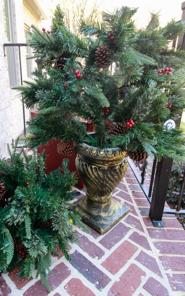 Front Porch Christmas Trees