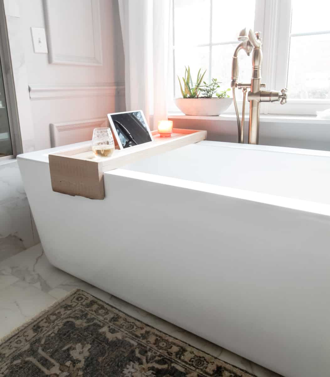 DIY Bathtub Tray with Reclaimed Wood · DeeplySouthernHome
