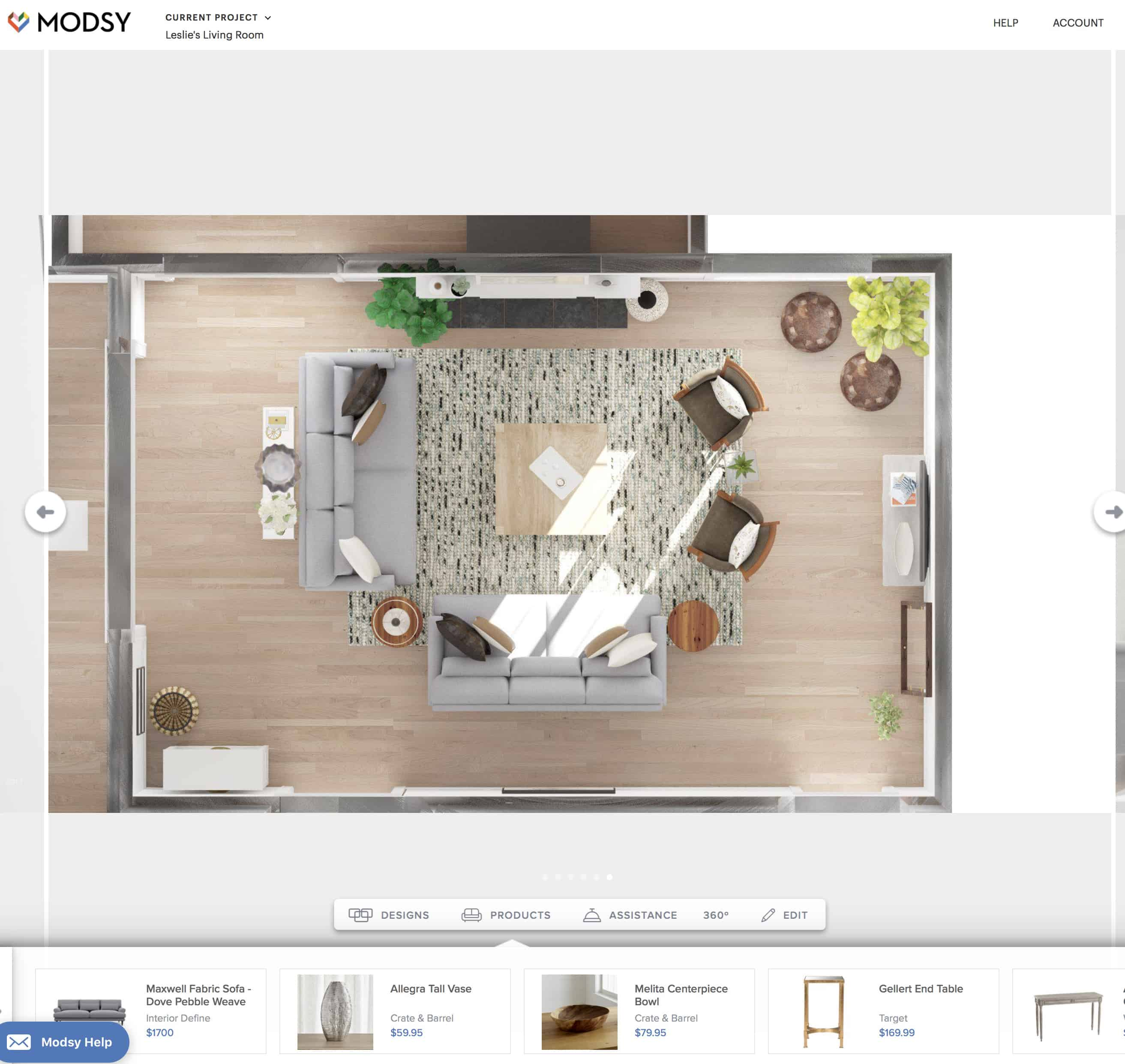 try before you buy modsy and our living room makeover