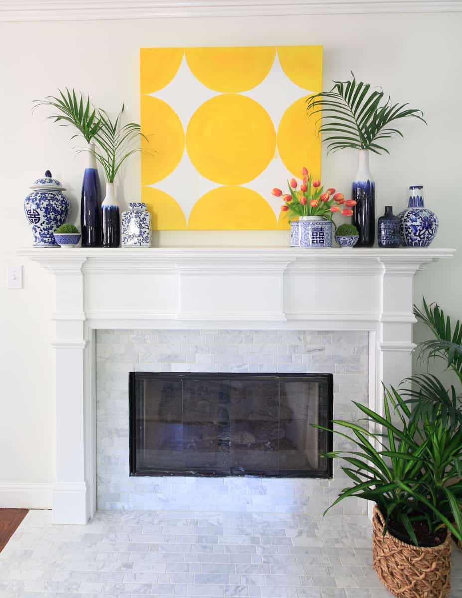 Marble Tile Fireplace Makeover Deeplysouthernhome