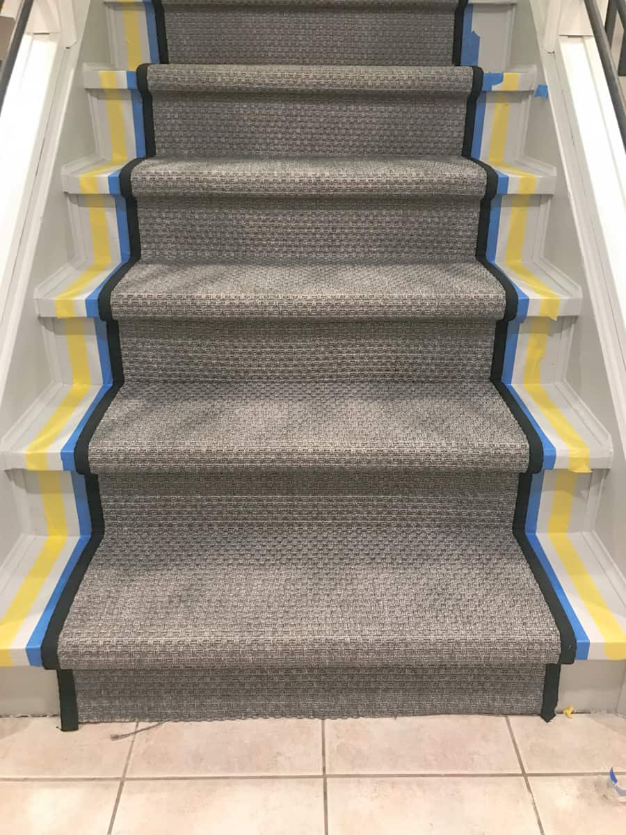 How to paint a stripe on stairs