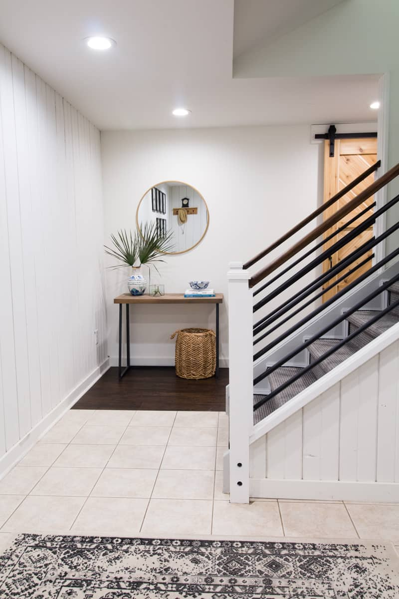 basement painted stairs