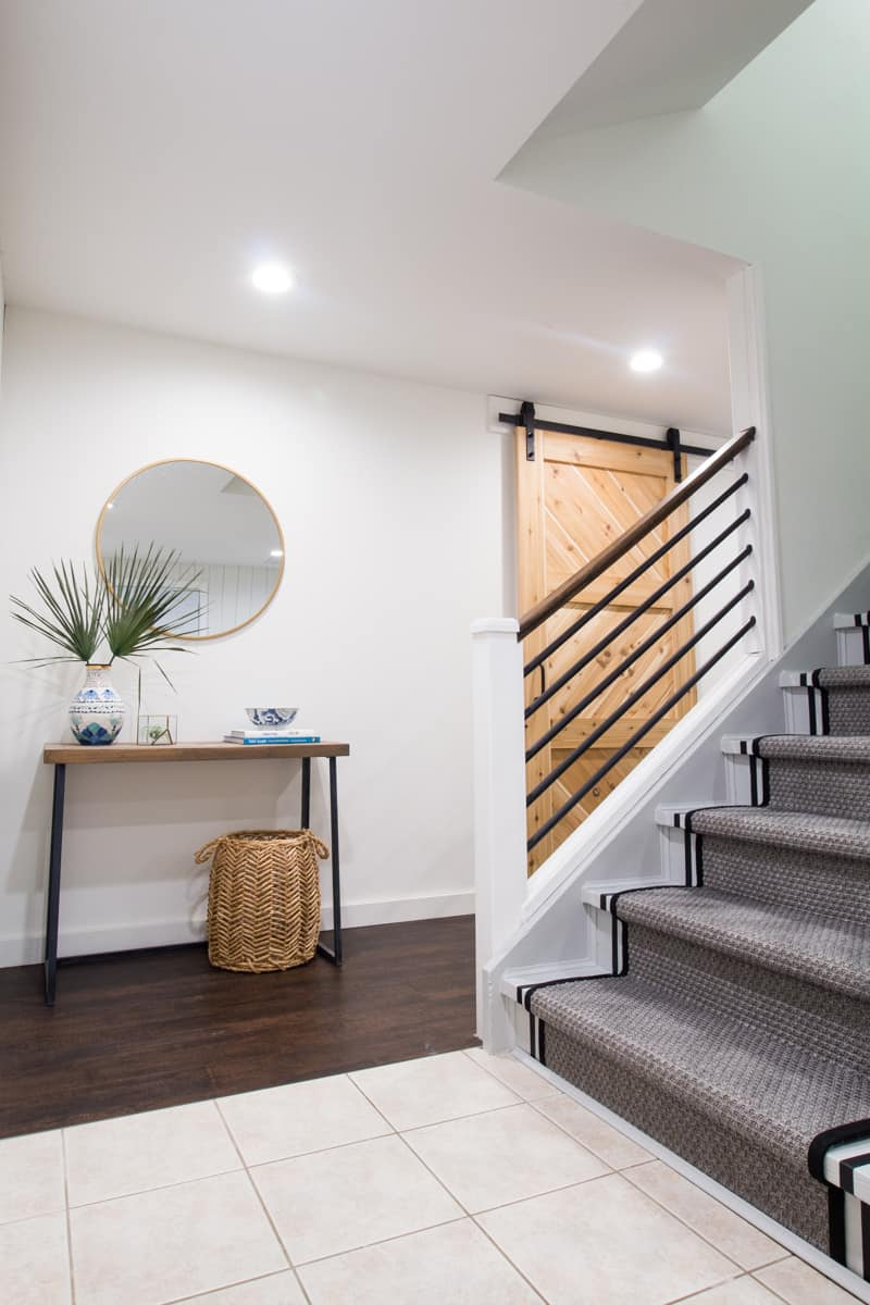painted striped stairs